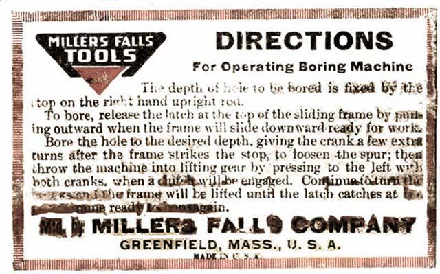 MyOldTools.com -- Boring Machines